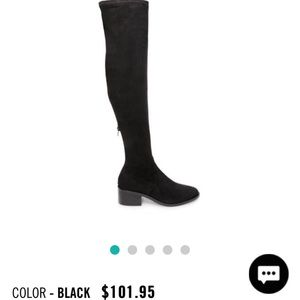 Brand new black suede over the knee boots